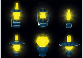 Vecteurs de lampes à gaz