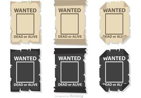 Wanted Poster Vectors Pack