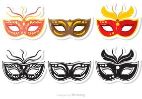 Mardi gras mask-vektorer