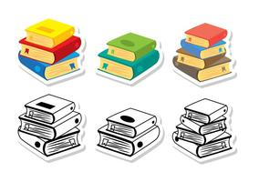 Pila de vectores de libros