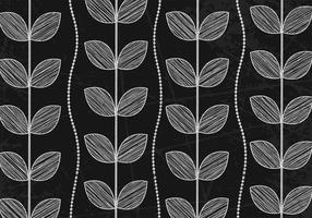 Chalk Drawn Leaf Wallpaper Vector