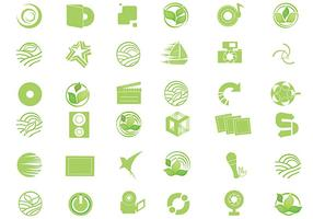 Eco Green Icon Vektor Pack