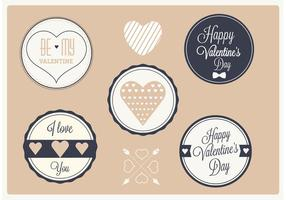 Free Vector Valentine's Day Labels