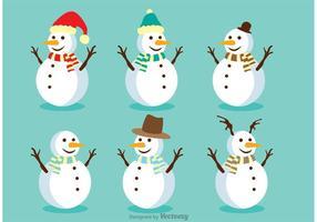 Conjunto de vectores de muñeco de nieve