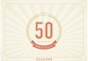 Free Vector Vintage 50 Years Anniversary Label