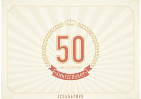 Etichetta vettoriale vintage 50 anni anniversario gratis