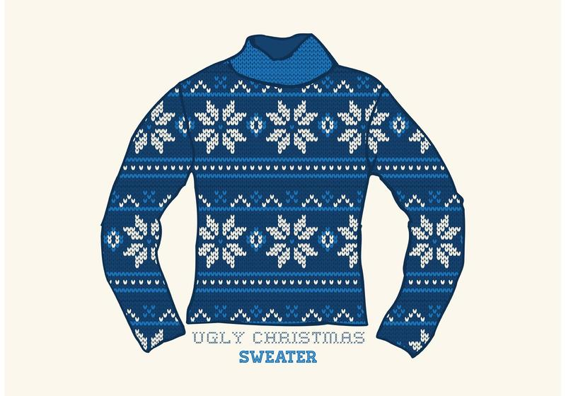 Ugly christmas sweater traditional. Vector download free art