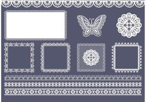 Free Vector Square And Border Doily