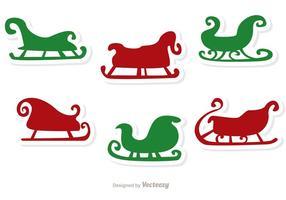 Santa sleigh vector pack 1