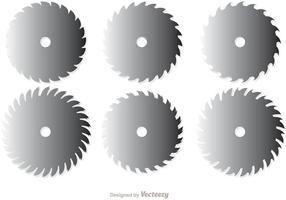 Hojas de sierra circular paquete de vectores 1