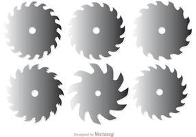 Hojas de sierra circular paquete de vectores 2