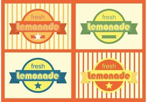 Badges Retro Lemonade