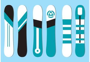 Free-vector-snowboard-set
