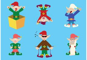 Collection of Santas Elves