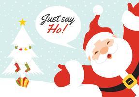 Tarjeta de felicitación libre de Papá Noel del v