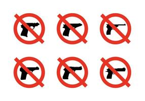 Vector-no-weapons-signs