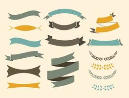 Gratis Vector Ribbons Set