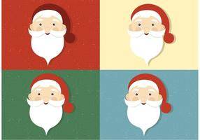 Vecteur gratuit Santa Claus Faces