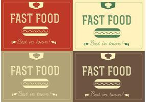Libre vectores de comida rápida