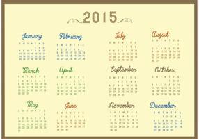 Free Vector Kalender für 2015