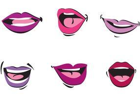 Vecteurs parlants de la bouche