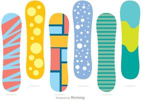 Pack de vectores de color de snowboard
