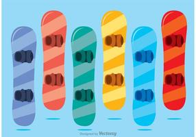 Colorido Pack Snowboard Vector