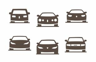 Cars Silhouette Vector Pack of Sedans