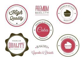 Freie Bäckerei-Etiketten und Logo-Vektoren