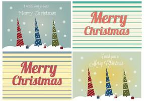 Retro Weihnachtskarten-Vektoren