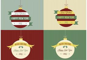 Retro Christmas Ornament Backgrounds
