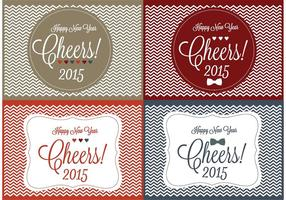 Cheers! New Year Backgrounds  vector