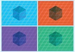 Fondos de vectores de cubo 3D
