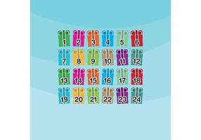 Christmas Gift Advent Calendar Vector
