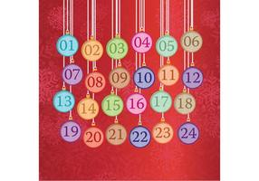 Hanging Christmas Ornament Advent Calendar  vector