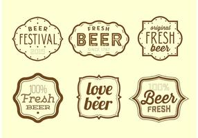 Vintage Beer Labels vector