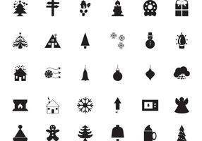30 Iconos de vectores de Navidad