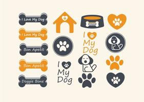 Cute Dog Vector Elements
