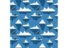 Free Iceberg Underwater Pattern Vector