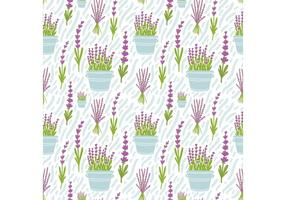 Free Lavender Flower Seamless Pattern Vector