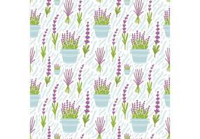 Free Lavender Flower Seamless Pattern Vector