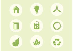 Gratis Vector Ecologie Pictogram Set