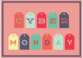 Cyber Monday Tag Template vector