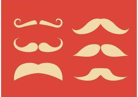 Flache Schnurrbart-Vektoren