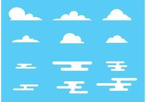 Ensemble de nuage de vecteur gratuit