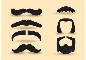 Ensemble de moustaches vecteur gratuit