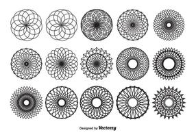 Spirograph Vector Shapes