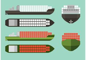 Container Ship Vector