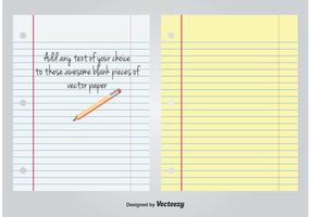 White and Yellow Lined Blank Paper vector