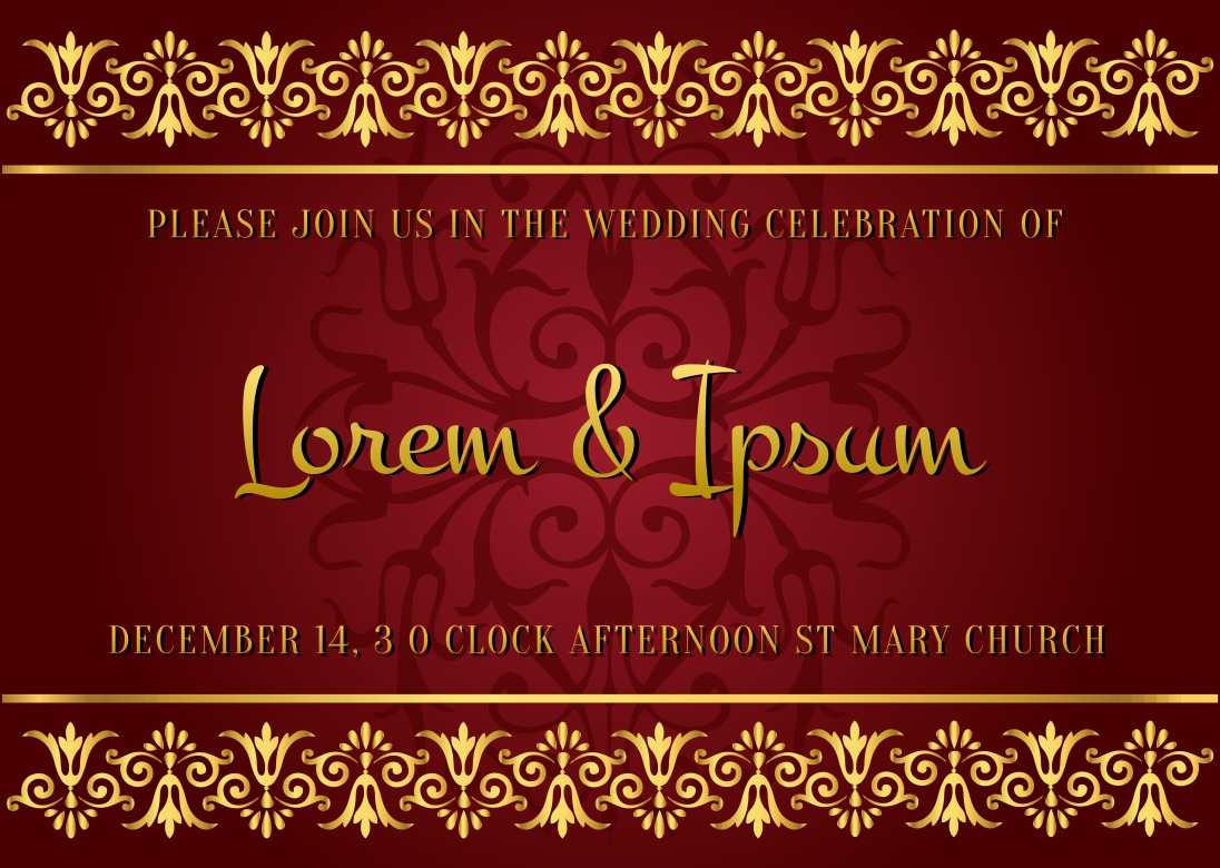 Indian Style Wedding Card - Download Free Vector Art, Stock Graphics ...